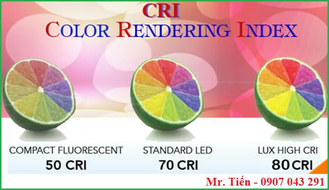 Ảnh hưởng của CRI đén màu sắc của mẫu