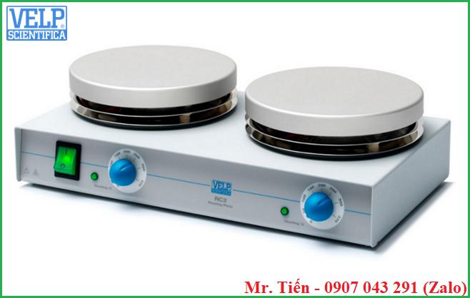 Bếp đun phòng thí nghiệm 2 vị trí (Heating Plate) RC2 hãng Velp