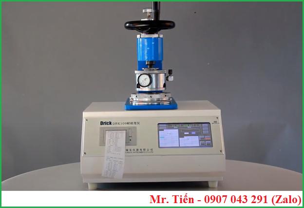 Bursting Strenght Tester DRK109A Drick có tích hợp máy in thuận tiện xuất dữ liệu báo cáo kết quả đo