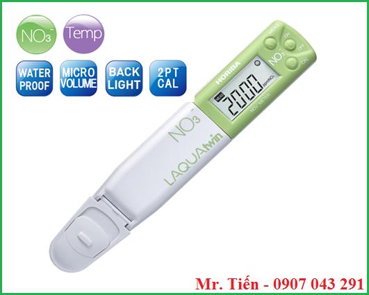 Bút đo LAQUAtwin NO3- đo Nitrate trong rau củ, đất, bột, dung dịch,.....