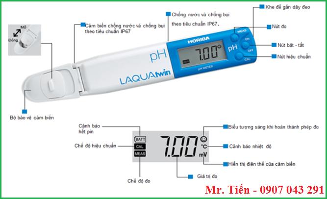 Bút đo pH 11 hãng Horiba Nhật Bản