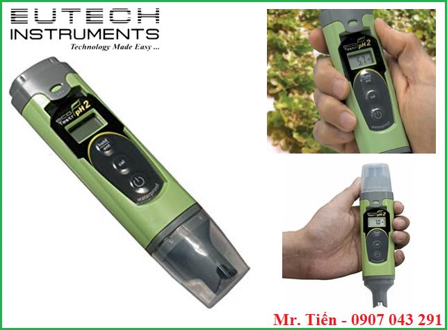Bút đo pH nước nuôi tôm cá, nước uống EcoTestr pH2 Eutech Instruments