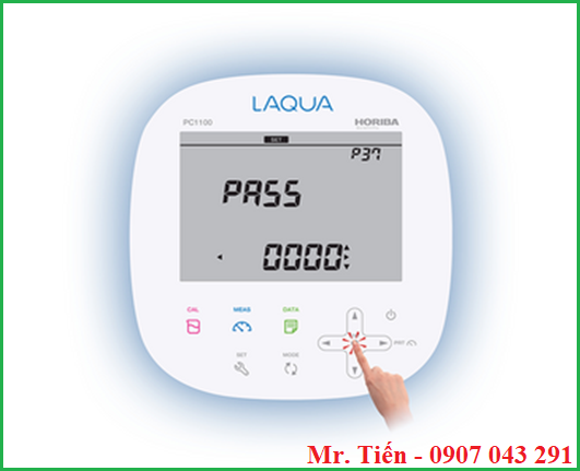Cài đặt mật khẩu giúp bảo mật kết quả đo trên máy pH 1200 hãng Horiba