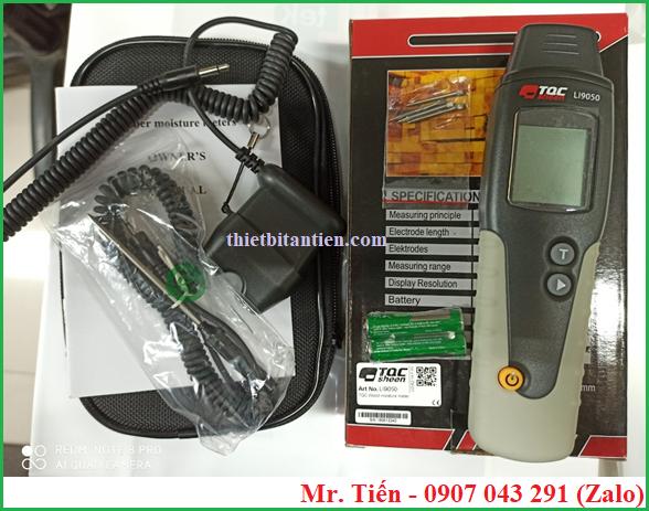 Cung cấp bao gồm của máy đo độ ẩm gỗ tường bê tông LI9050 TQC Sheen