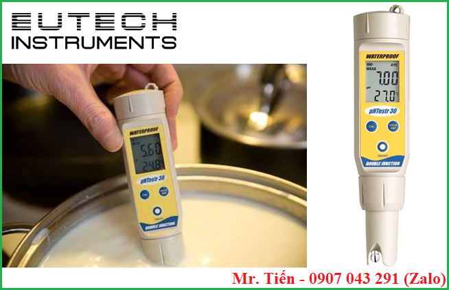 Đo pH và nhiệt độ của sữa đậu nành bằng bút pHTestr 30 hãng Eutech