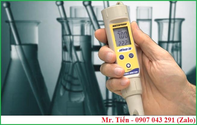 Dụng cụ đo độ pH nước pHTestr 30 hãng Eutech (Singapore)