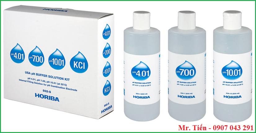 Dung dịch hiệu chuẩn pH 4.01 / 7.00 / 10.01 hãng Horiba