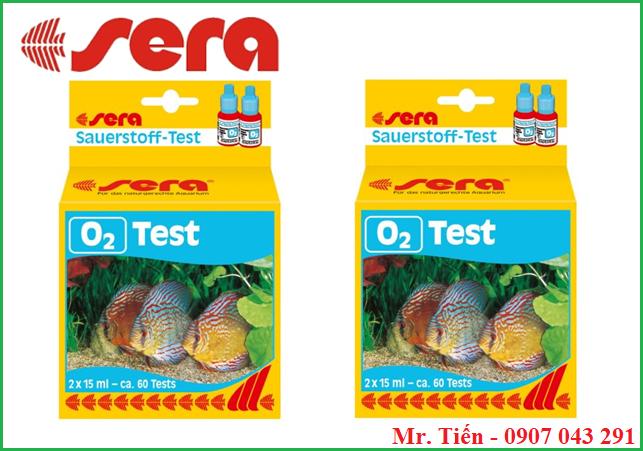 Hộp test nồng độ Oxy trong nước nuôi tôm cá test O2 hãng Sera