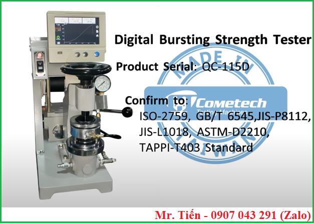 Máy đo độ bục giấy điện tử hiện số QC 116 hãng Cometech