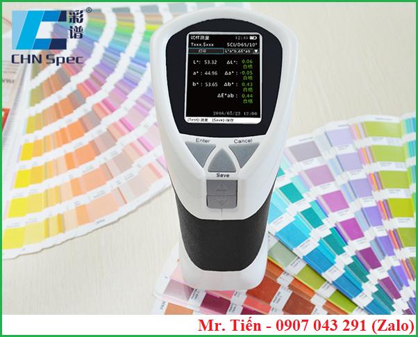 Máy đo màu sơn, nhựa, vải, sợi chỉ Colorimeter CS-200 hãng CHN
