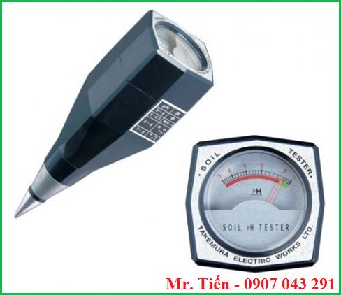Máy đo pH đất trồng cây DM 13 Takemura Nhật Bản