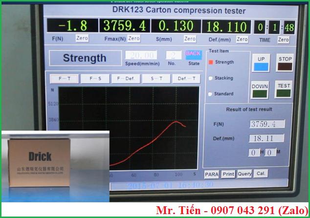 Máy DRK 123 Drick màn hình cảm ứng dễ thao tác, hiển thị kết quả đo rõ nét