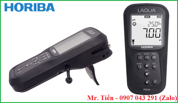 Máy LAQUA PD210 Horiba có thiết kế nhỏ gọn, nhẹ, dạng cầm tay tiện lợi