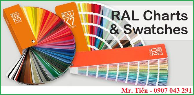 Thẻ màu sắc tiêu chuẩn RAL Colours Chart