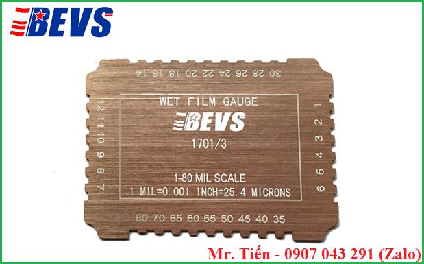 Thước đo độ dày màng sơn phủ ướt (Wet Film Gauge) BEVS 1701/3
