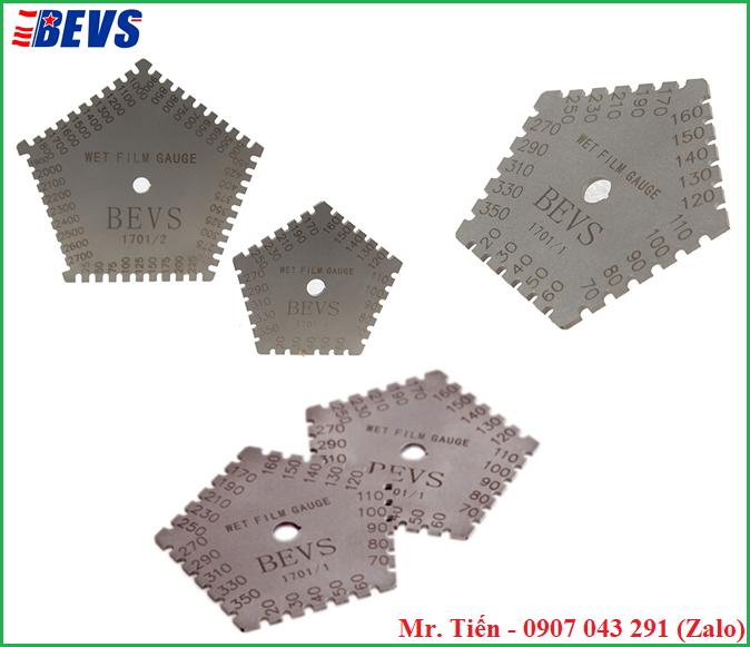 Thước đo độ dày màng sơn ướt BEVS 1701/1 và BEVS 1701/2 hãng BEVS