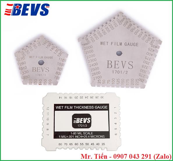 Thước đo độ dày sơn ướt BEVS 1701 hãng BEVS (Wet Film Gauge)